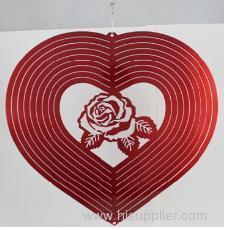 wind spinner, rose