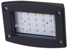168 rectangle led outdoor wall recessed lighting no cover