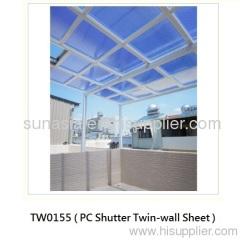 Polycarbonate Shutter Twin-wall Sheet