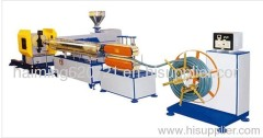 PVC fiber reinforcing pipe extrusion line