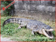Fiberglass animal statue crocodile