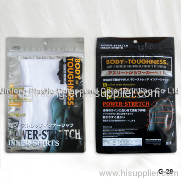 plastic garment pouches with hanger hole