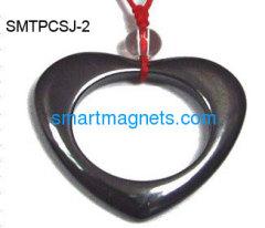 hematite magnetic heart pendant