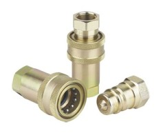Retractable hydraulic quick coupling