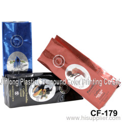 ground coffee bag with valve