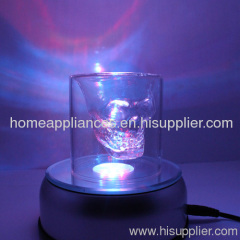New Crystal Laser Light Stand with 360 Degree Rotatable and 7 Led Lights for Displaying Exquisite Crafts
