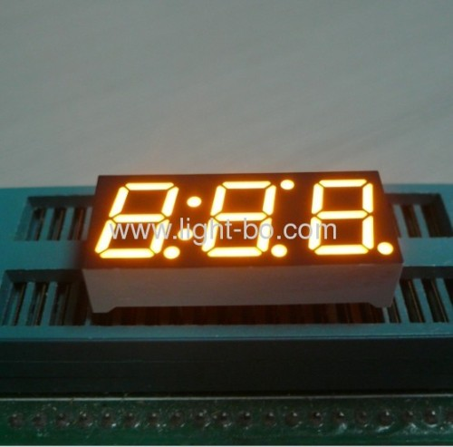 Common Anode ultra bright amber 3 digit 0.39-inch 7 segment led numeric displays