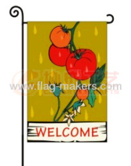 Custom tomatoes garden flag