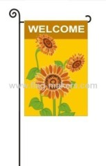 Custom sunflowers garden flag