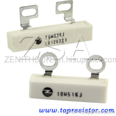 SQF type High power Ceramic tube wirewound resistor 20W