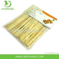 Flat disposable bamboo skewers with hanle