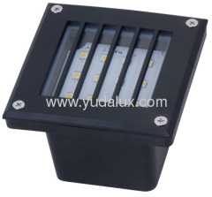 120 led outdoor wall recessed light with cover and easy installation