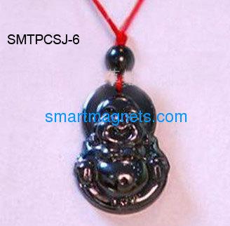 buddha hematite magnetic pendant
