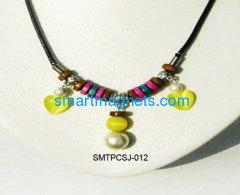 opal ferrite magnetic pendant