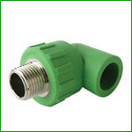 PPR Male Thread 90 Degree Elbow With Brass Insert Pipe Fittings