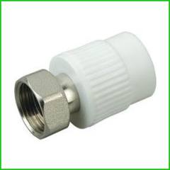 PPR Thread Coupling with Brass Union Pipe Fitting