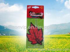 maple design paper car air freshener