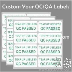 Custom Adhesive QC Pass Label