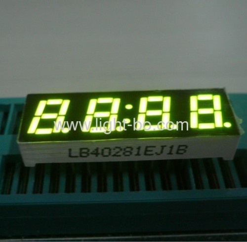 Ultra bright white small size4 digit led clock display 0.28  common anode for home appliamnces
