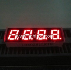 4 digit red 7 segment led display;0.28