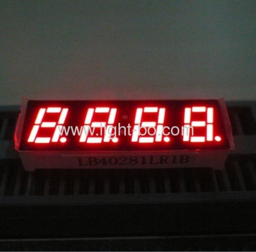 "0.28 ""gemeinsame Kathode super rot vierstellige 7-Segment-LED-Displays numerisch"