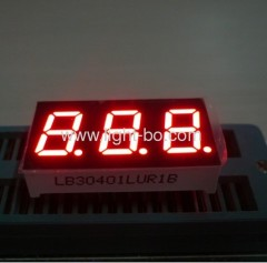 Triple digit 0.4 led numeric displays;0.4