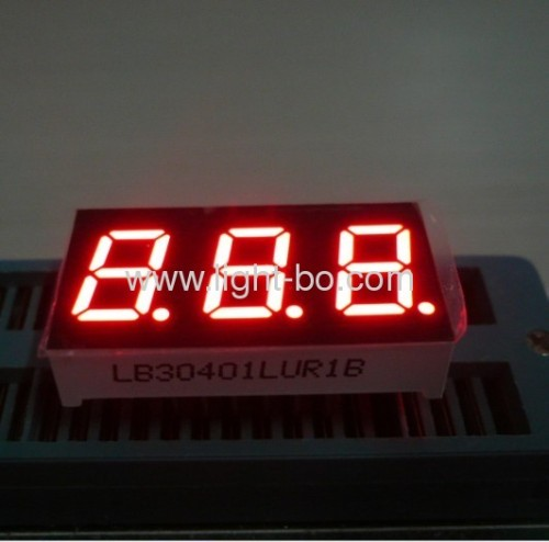 Pure Green triple digit 0.4 inches common anode 7 segment led numeric display