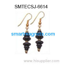 New style hematite magnetic earbob