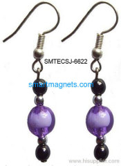 new arrival hematite magnetic earbob