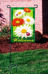 Welcome flower series garden flag