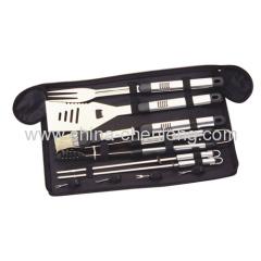 10pcs/set BBQ tools kit in zipper oxford bags