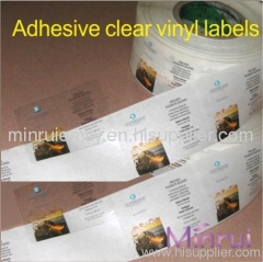 custom clear labels printing
