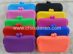 2013 fashion silicone glass orange bag