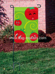 Custom tomatoes smile garden flag
