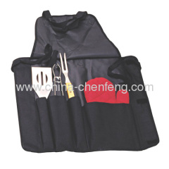 promotional BBQ apron with cooking tools