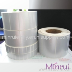blank pet stickers in rolls
