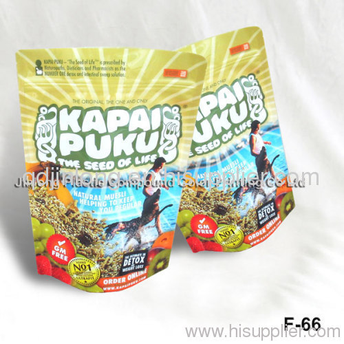 zipped food pouch