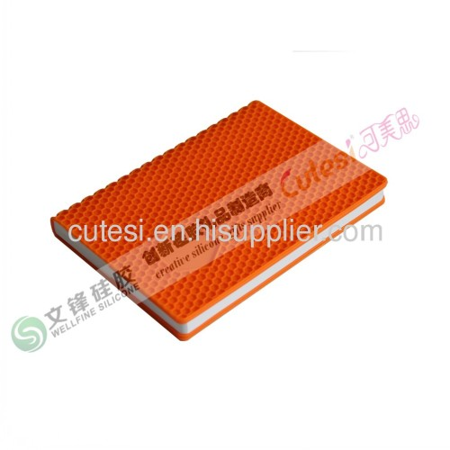 wholesale Silicone diary holder with hexagonal honeycombs shape A5 inner paper