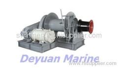 single drum hydraulic anchor windlass