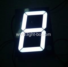 Pure anodo bianco comune 4 pollici ampio segmento singola cifra dimensione sette led display numerici per uso esterno