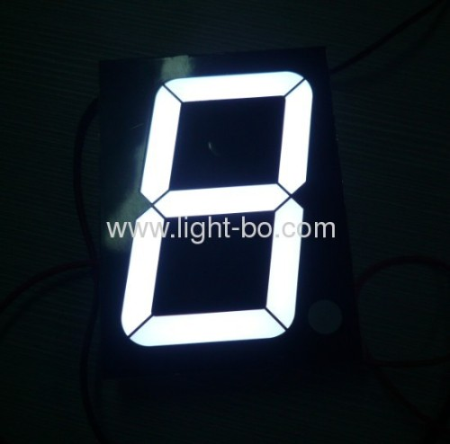 Pure White Common anode 4-inch Single digit large size seven segment led numeric displays for outdoor use