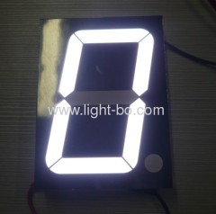 Pure white 5-inch large size 7 segment led numeric displays for indoor or semi-outdoor application