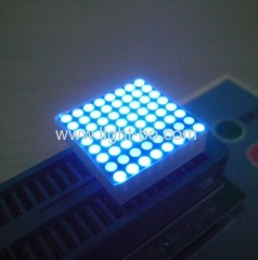 0.8 inches 8 x 8 blue dot matrix led display;blue dot matrix