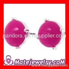 pink glass bubble earrings