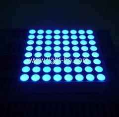 "2.0"" 5mm 8 x 8 ultra bright blue dot matrix led displays"