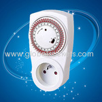 French electronic timer socket