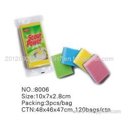 sponge scour cleaning sponge