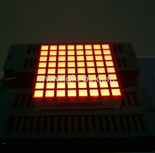 1.26-inch 3mm 8 x 8 Red/Green Square Dot Matrix LED Displays