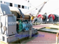 electrical anchor and mooring rope capstan
