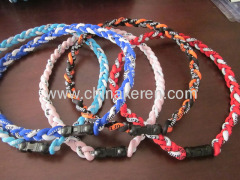 Fashion silicone colors Power Balance necklaces